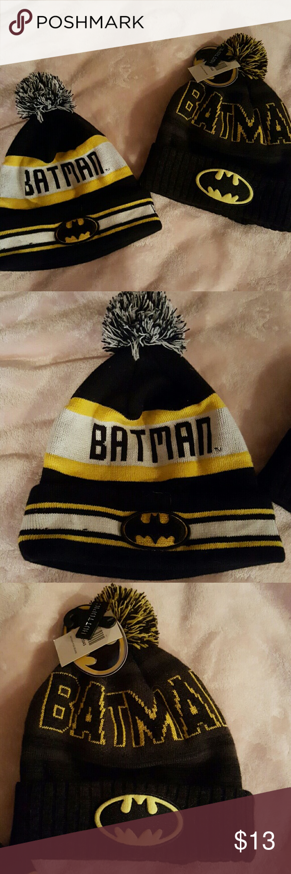 69563b0afe2 Bundle...2 batman beanies Two adorable batman beanies. Never worn. One of  them still has tags. Purchased at Hot Topic. Smoke free home.
