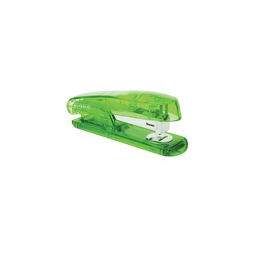 Rapesco Puffa See-Through Half Strip Stapler Green