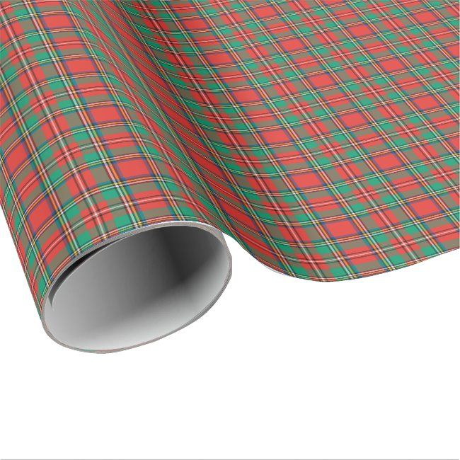 Classic Christmas Plaid Wrapping Paper #christmas #plaid #tartan #classic #red #WrappingPaper. Ships worldwide. #christmas #christmasgiftwrapping #wrappingpaper