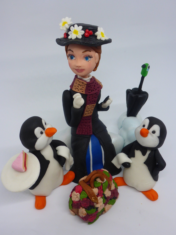 Mary Poppins inspired Edible Handmade Birthday Cake Topper ...