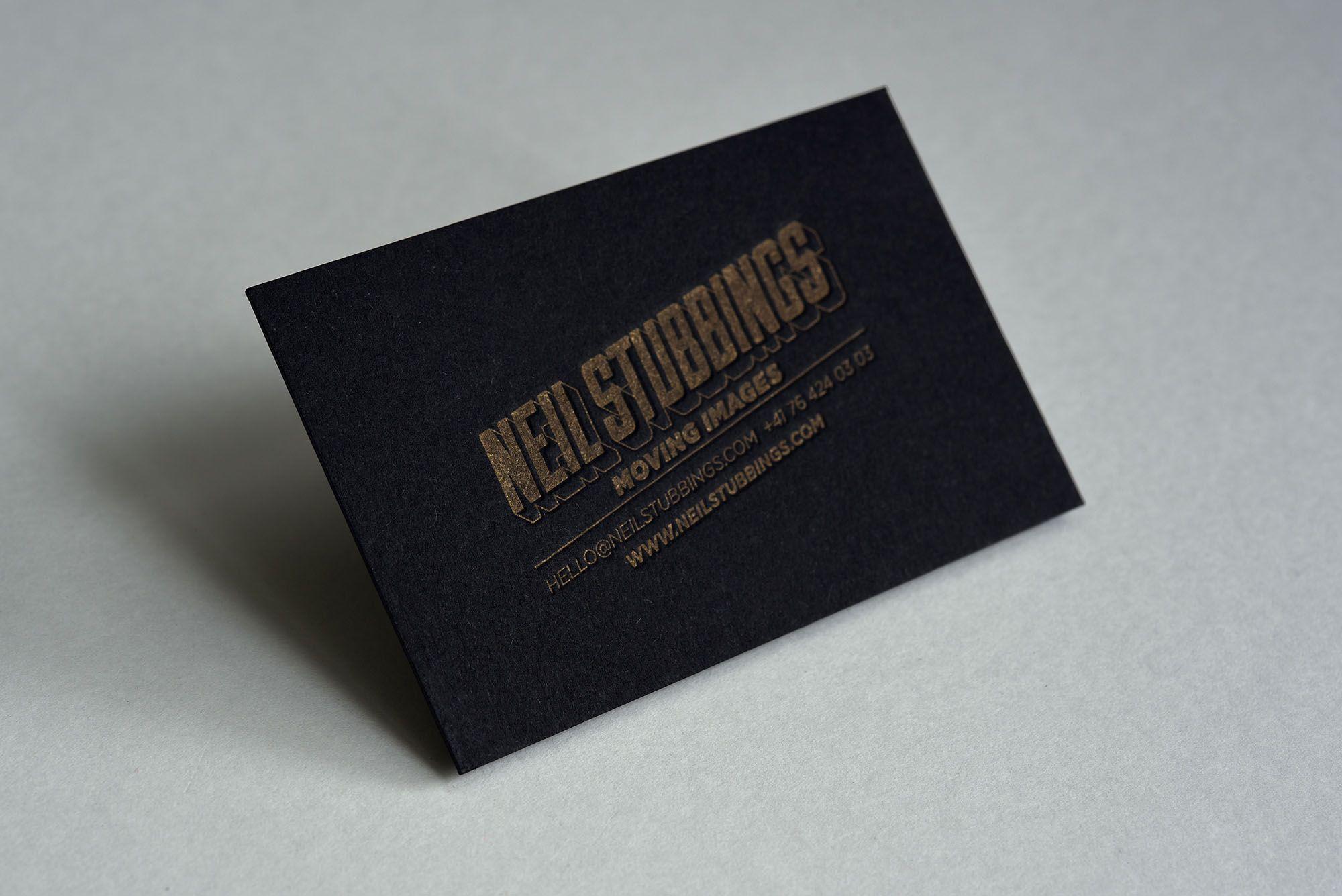 Letterpress Visitenkarten Für Www Neilstubbings Com