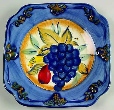 Certified International TUSCAN FRUIT-BLUE Grape Salad Plate. Square Plate SetGrape ...  sc 1 st  Pinterest & Certified International TUSCAN FRUIT-BLUE Grape Salad Plate | SQUARE ...