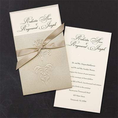 Embellished Invitation Wedding Invitation Ribbon Cheap Wedding Invitations Wedding Invitation Text
