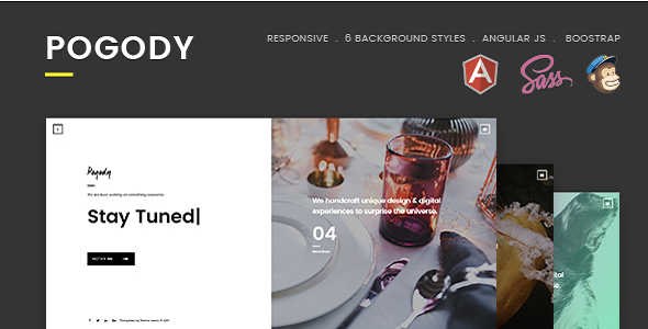6 Trends In Modern Html5 Designs: Welcome To Pogody ! A Modern, Creative, Professional And
