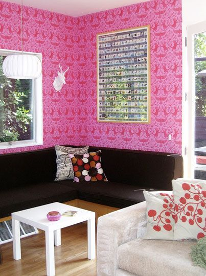 Wallpaper! | For the Home | Pinterest | Pink damask, Wallpaper and ...