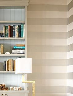 Horizontal Striped Wallpaper Google Search Guest Room Decor How To Install Wallpaper Accent Walls In Living Room