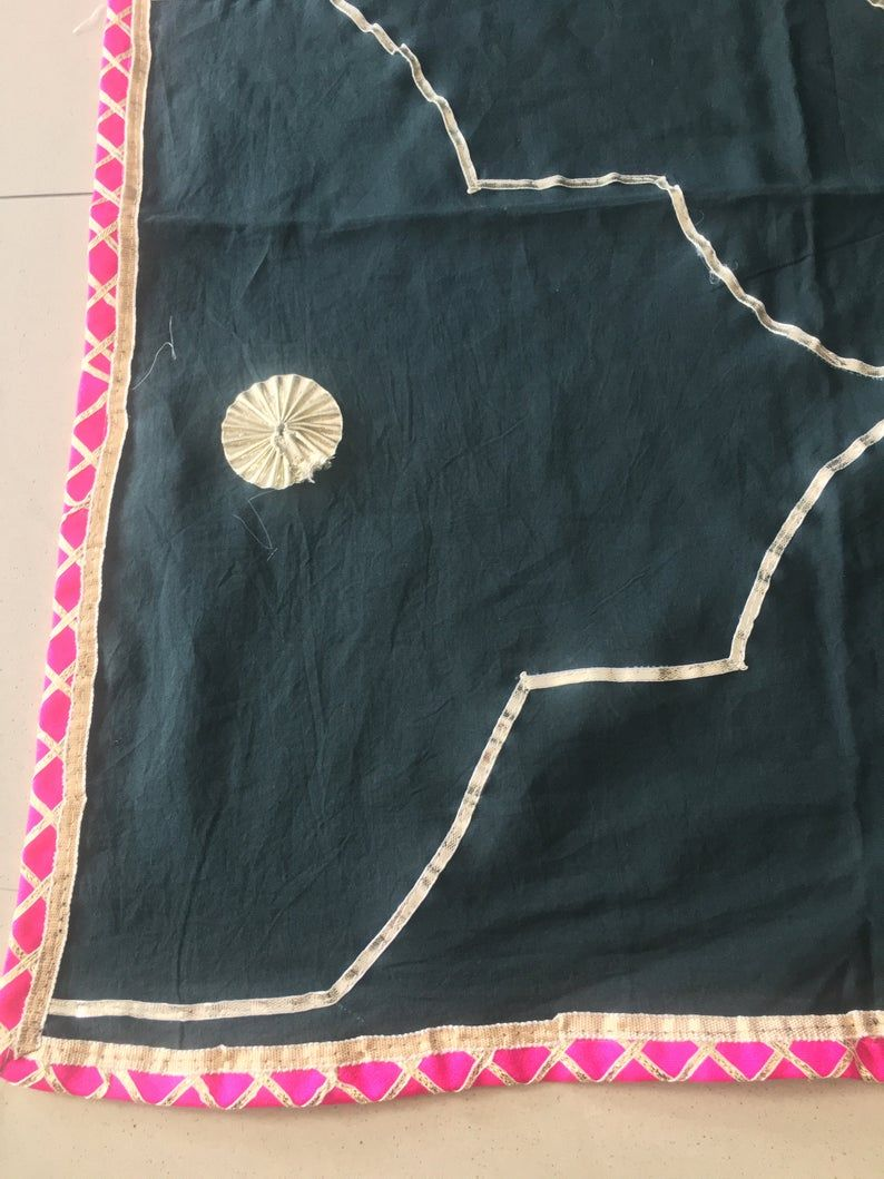 100/% Cotton Fabric....Embroidery On It.....2 Yards Long X 100cm Wide .....Black