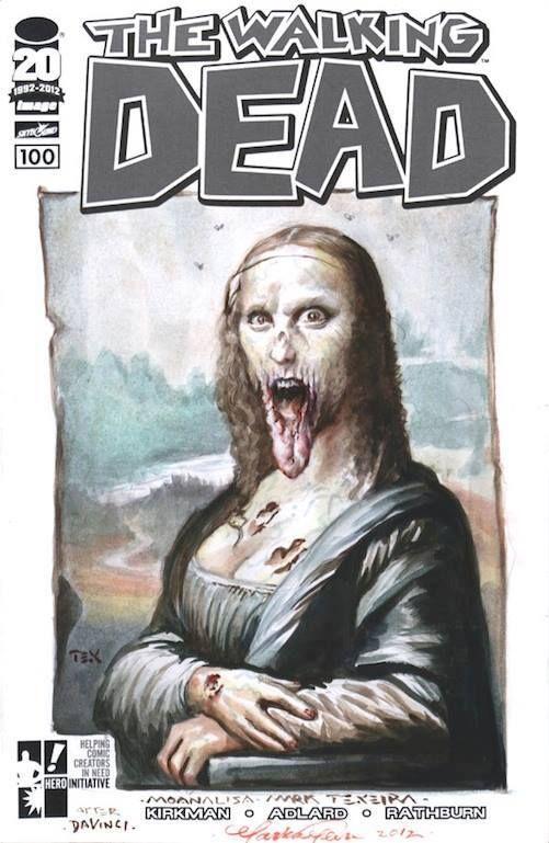 ☠ Walking Mona Dead Lisa ☠ by Mark Texeira
