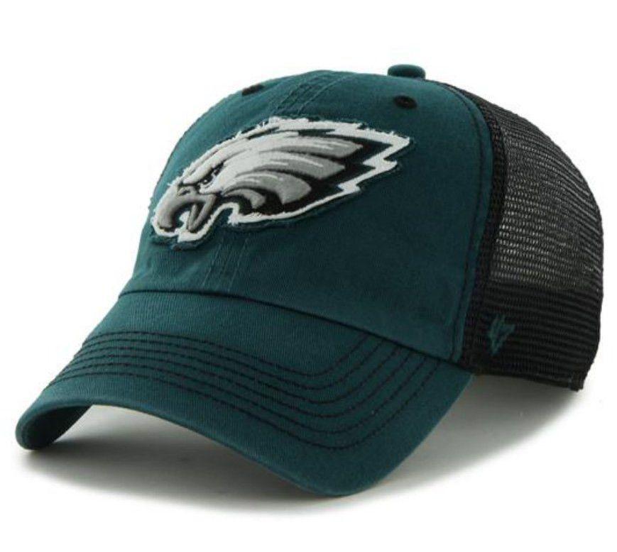 Philadelphia Eagles 47 Brand Green Black Taylor Closer Mesh Flexfit Hat Cap f7d8ec49fb1