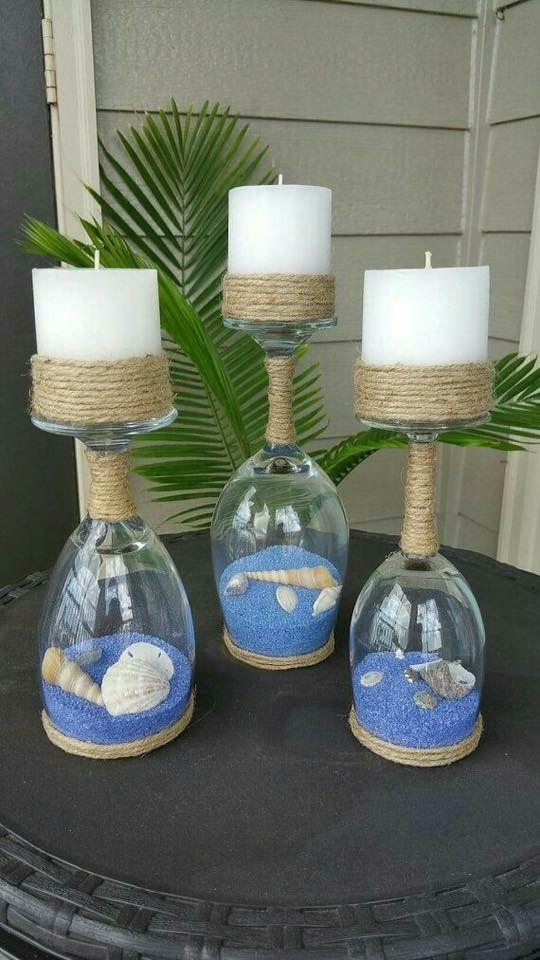 Pin By Katey Halloran On Crafts Pinterest Wine Glass Candle