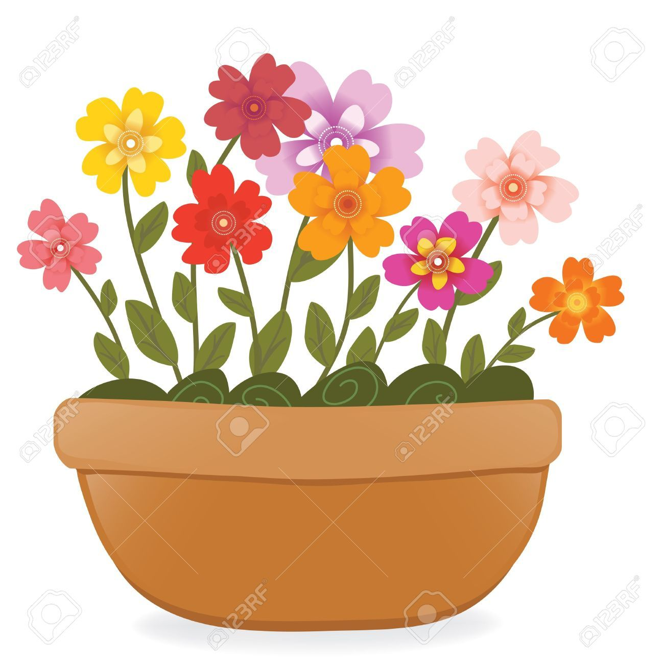 19 647 Flower Pot Stock Illustrations Cliparts And Royalty Free In 2021 Cartoon Flowers Flower Drawing Floral Art