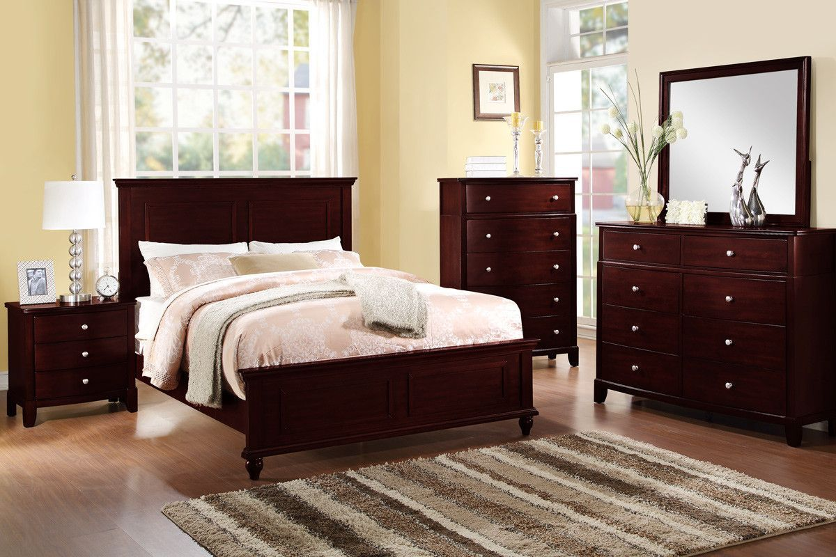 Queen Bed F9174Q Brown furniture bedroom, Bedroom sets