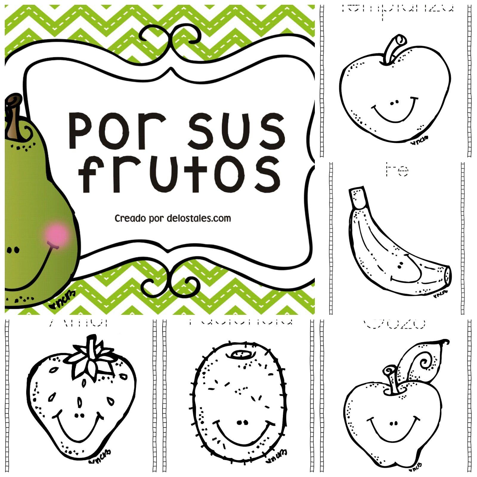 Frutos Del Espiritu Para Colorear 38001 | USBDATA