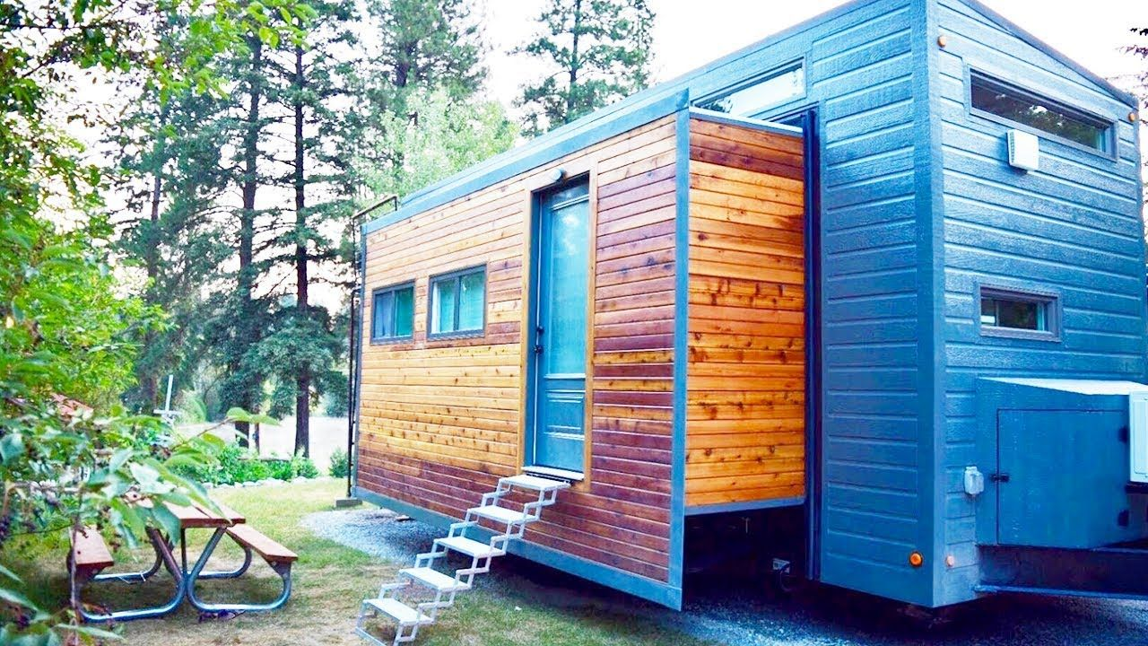 Perfect Couple S Expanding Tiny House Almost Doubles In