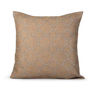Gracious Living Intricate Burlap Throw Pillow Burlap Throw Pillows Throw Pillows Pillows