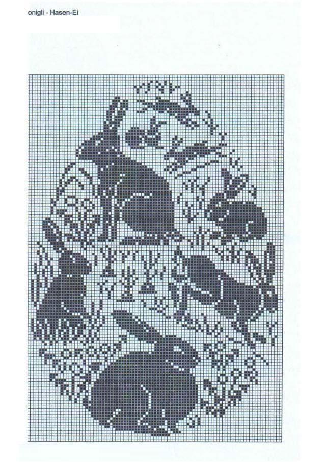 Cute Easter cross stitch | Punto Croce | Pinterest | Punto de cruz ...
