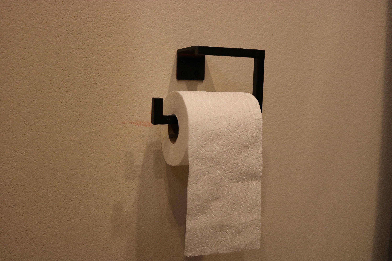 Toilet Paper Holder Hand Made Blackened Steel Etsy In 2020 Toilet Paper Holder Toilet Paper Blackened Steel