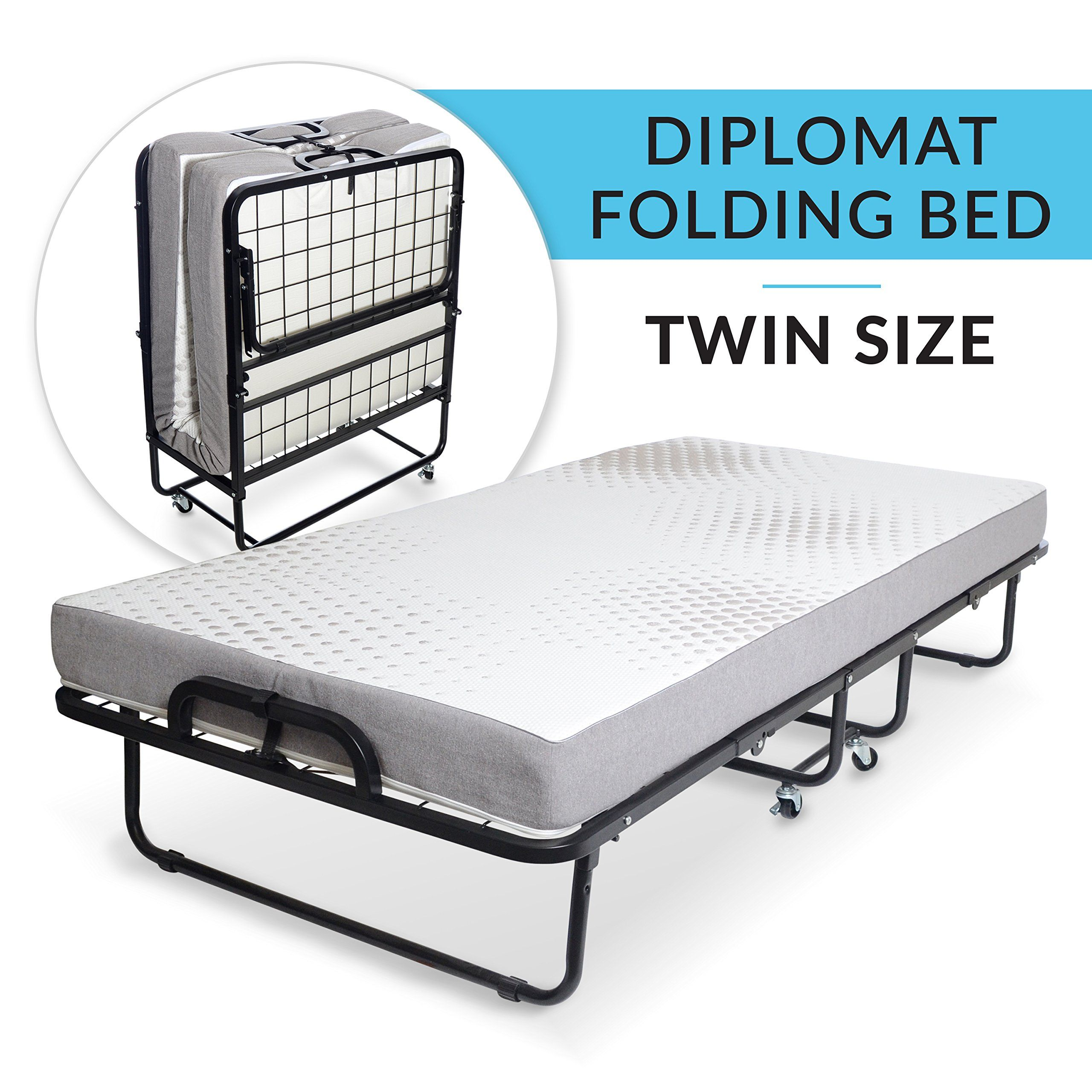 - Milliard Diplomat Folding Bed – Twin Size With Luxurious Memory