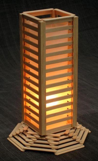 Popsicle Stick Lamp Ideascf 400x657