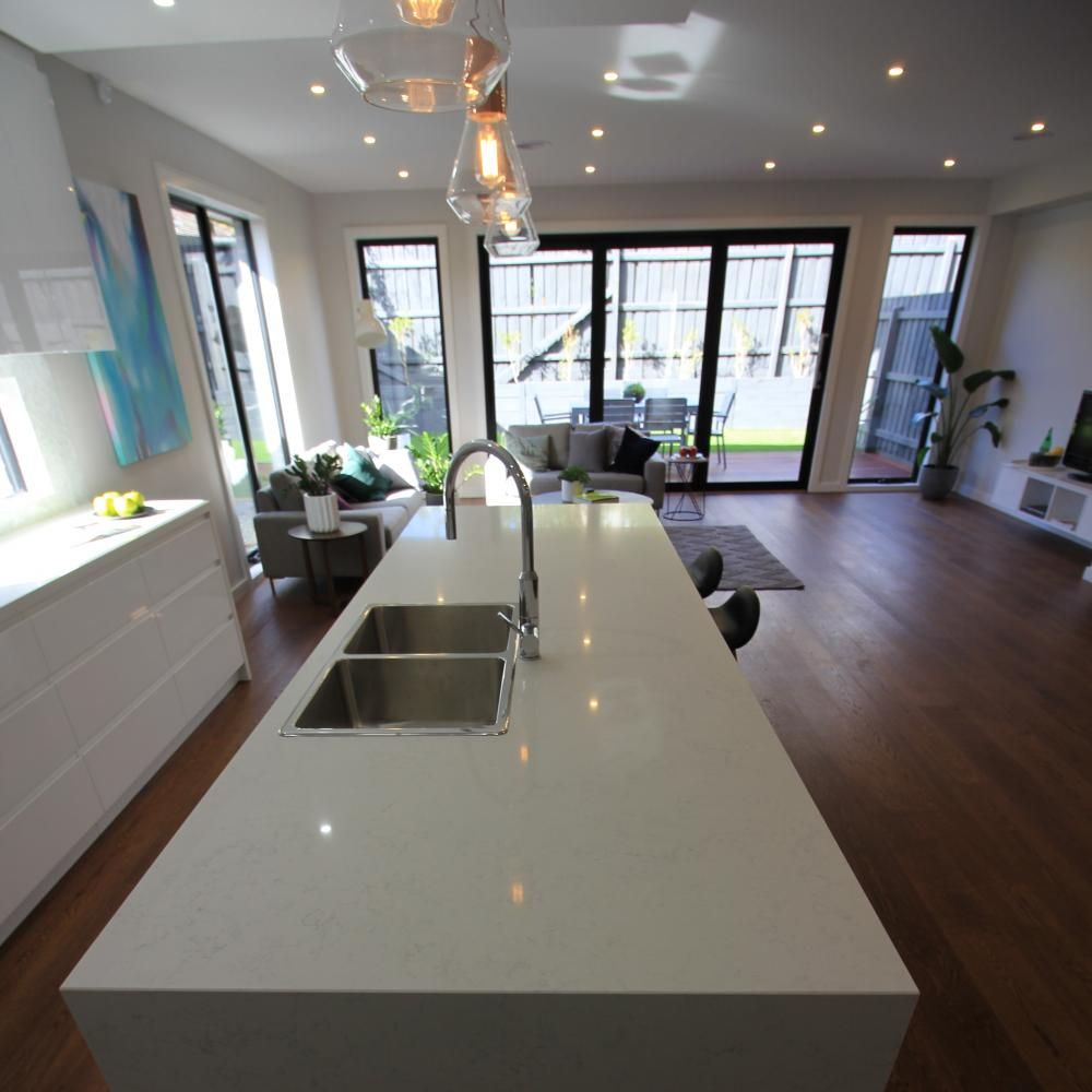 Carrara Mist Stone Ambassador Carrara Quartz Kitchen House