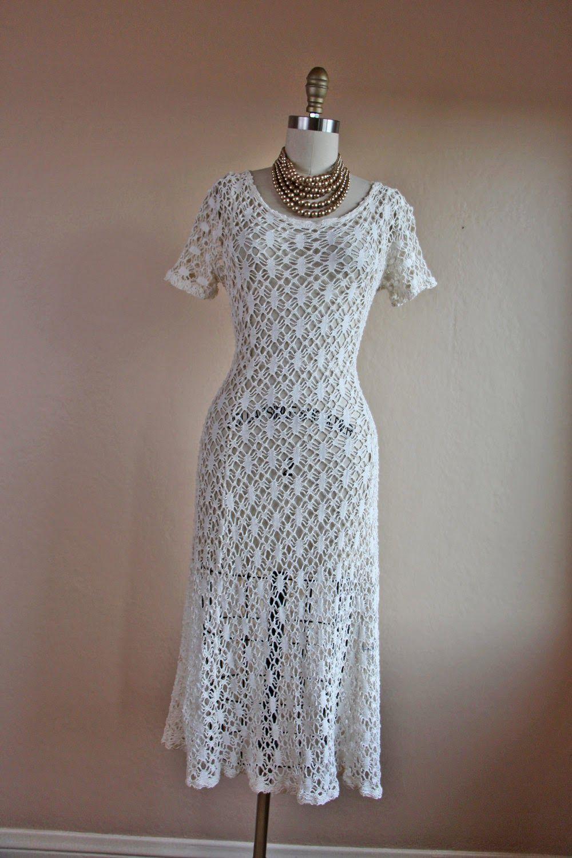 4fc102f38 Vestido midi   Vestuário Croche   Vestidos de crochê, Crochê e Blusas
