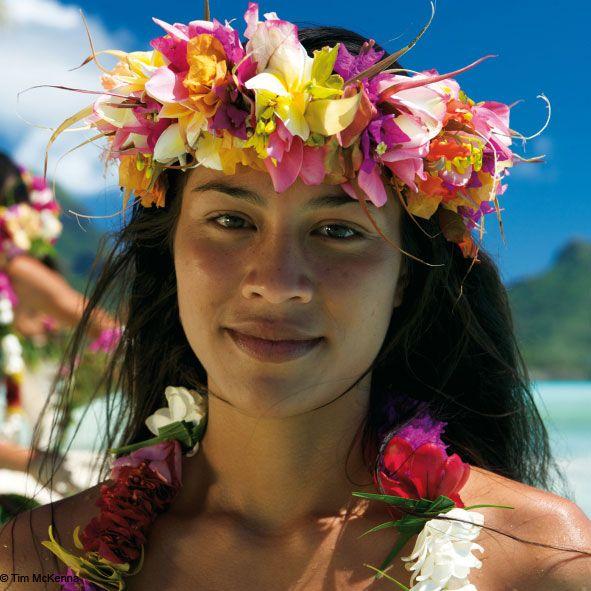 美しい太平洋諸島の女性