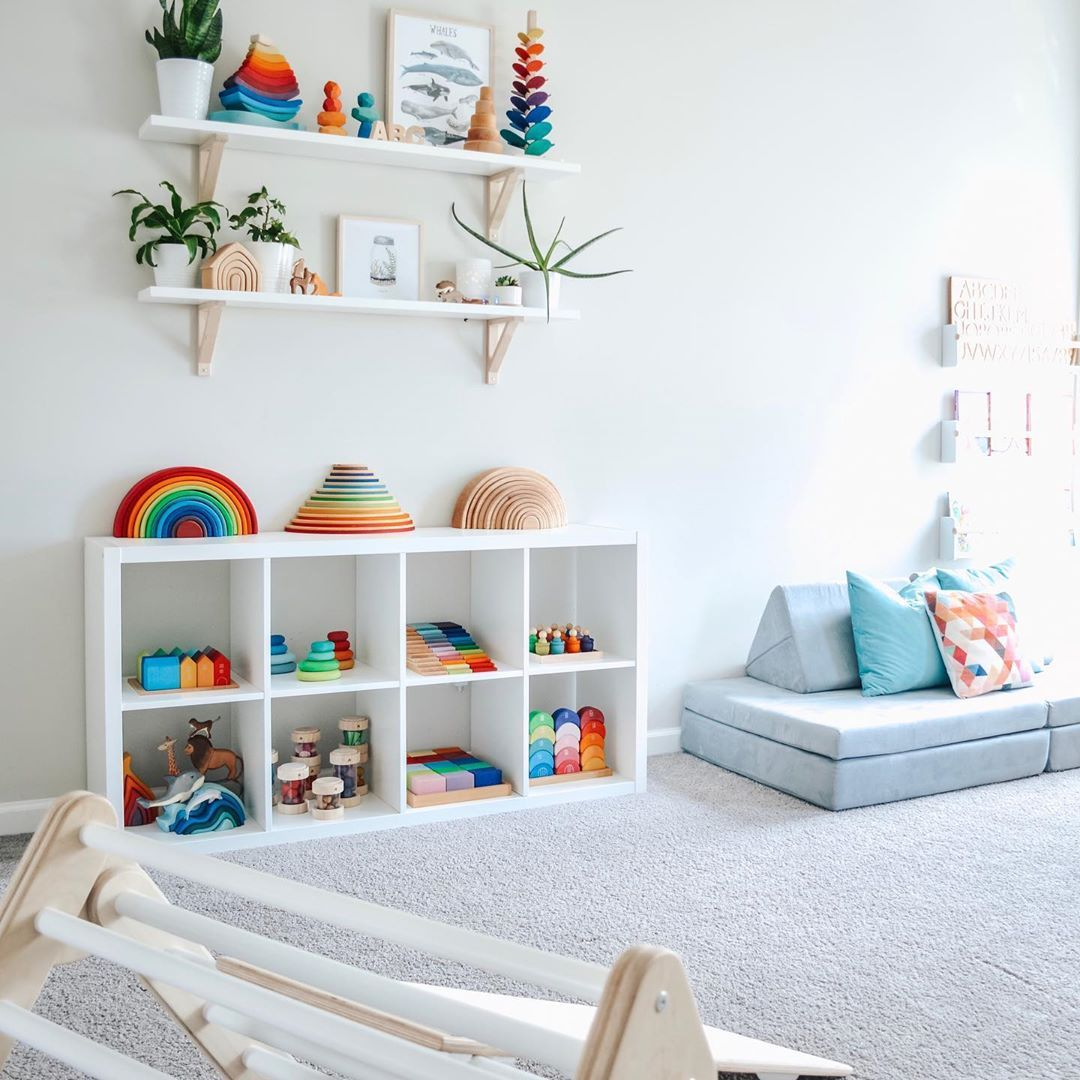 30 Beautifully Organized Playrooms That Are Honestly Just Really Nice To Look At Toddler Room Organization Toddler Playroom Baby Playroom Beautiful kids playrooms from