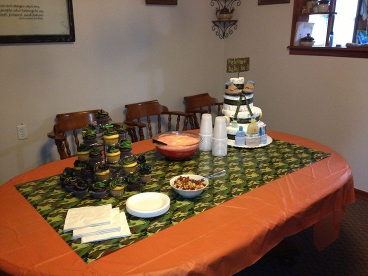Camouflage Baby Shower Decorations Camo Baby Boy Shower Ideas