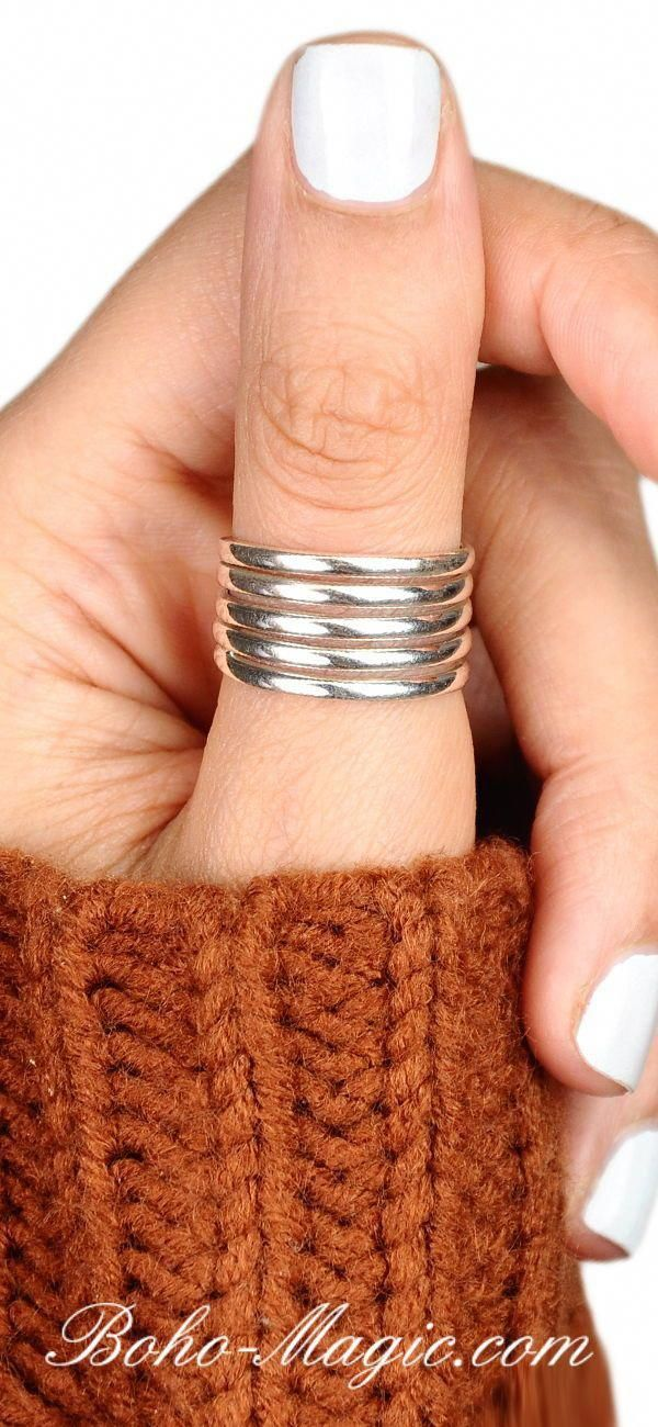Simple Silver Ring, Sterling Silver Ring for Women, Wide Thumb Ring, Midi Ring Band, Stack Ring, Minimalist Ring