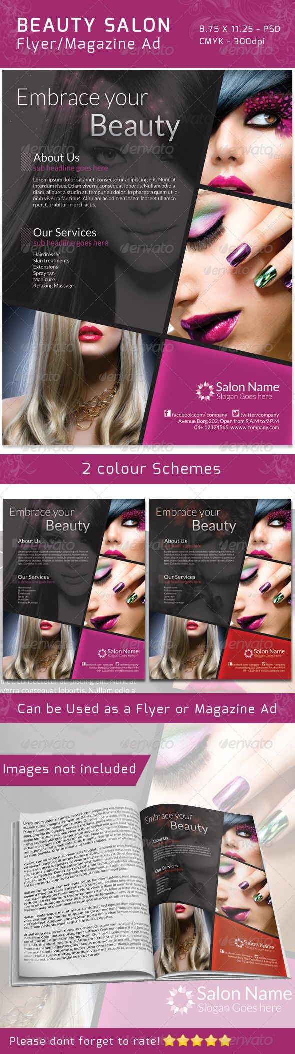 classy salon flyer magazine ad skincare fonts and beauty salons classy salon flyer magazine ad graphicriver