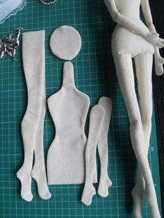 Blank Doll BODY for crafting handmade doll by MadeByMiculinko
