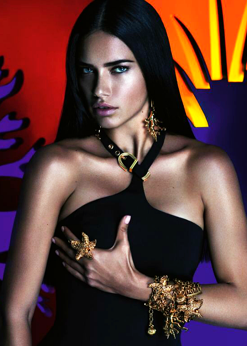6531ea00b9f40 Adriana Lima for Versace Riachuelo Advertising Campaign, ph. by Mert Alas    Marcus Piggott.