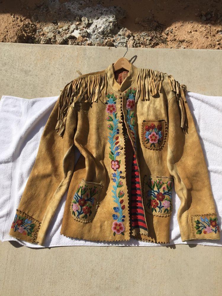 Native American Elk hide jacket,Vintage/Antique lined