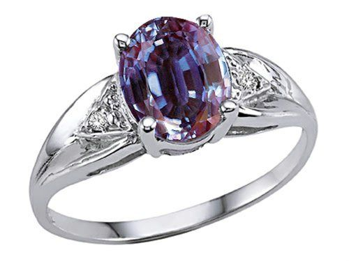Simulated Alexandrite Ring 10 kt White Gold Size 4.5 ** Click image to review more details.