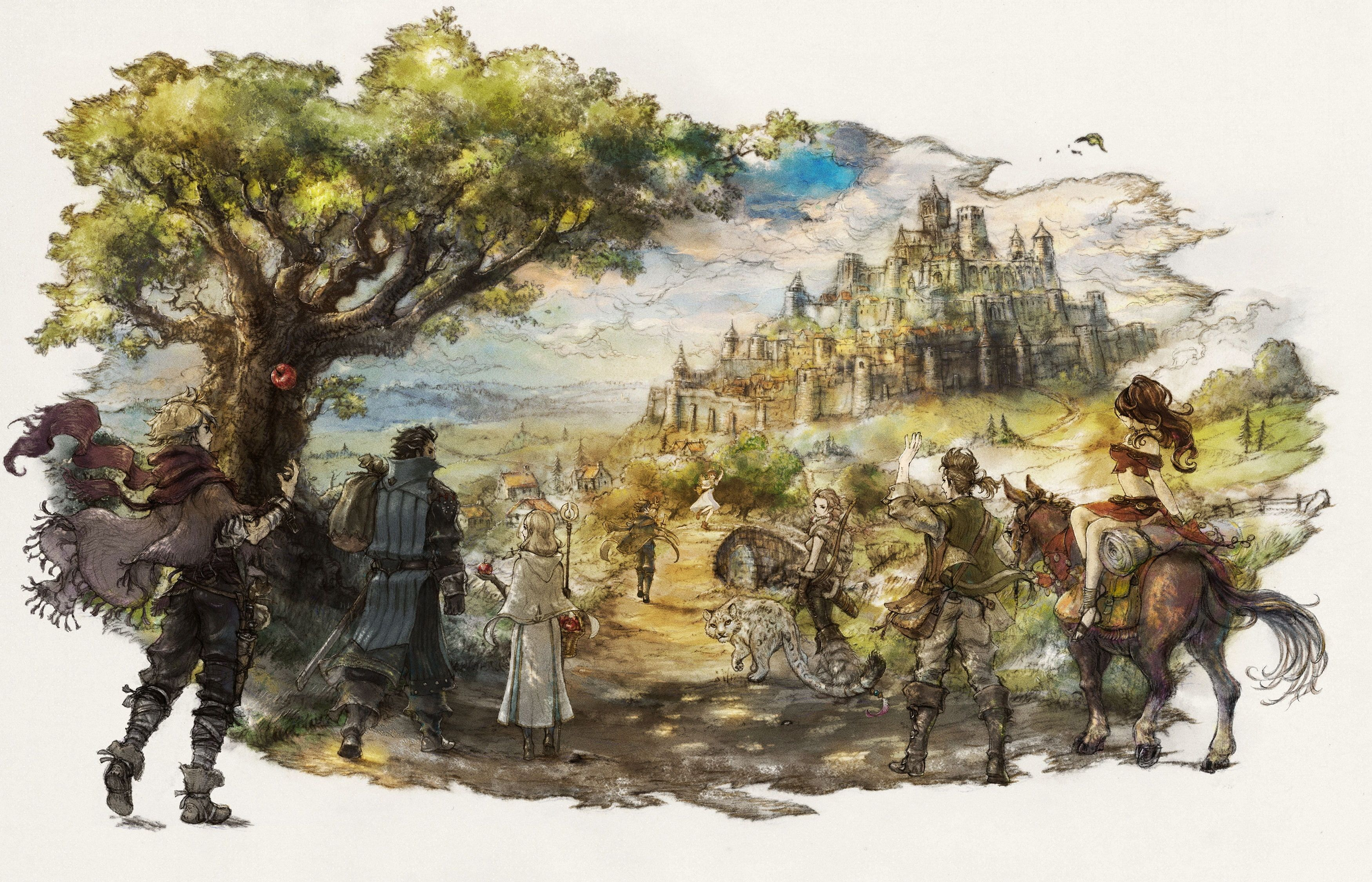 Octopath Traveler Video Games Fantasy Art Fantasy City Octopath Traveler Traveler Wallpaper Fantasy City