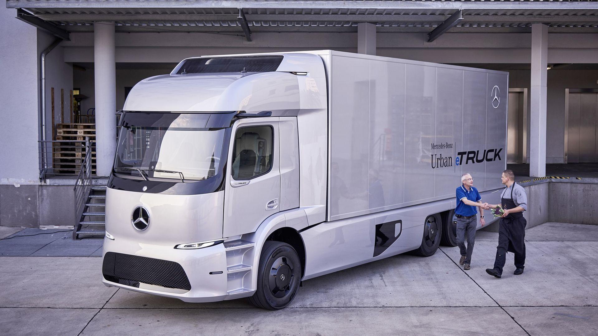 Mercedes Samochody Ciezarowe Elektryczne Mercedes Truck New Trucks New Electric Truck