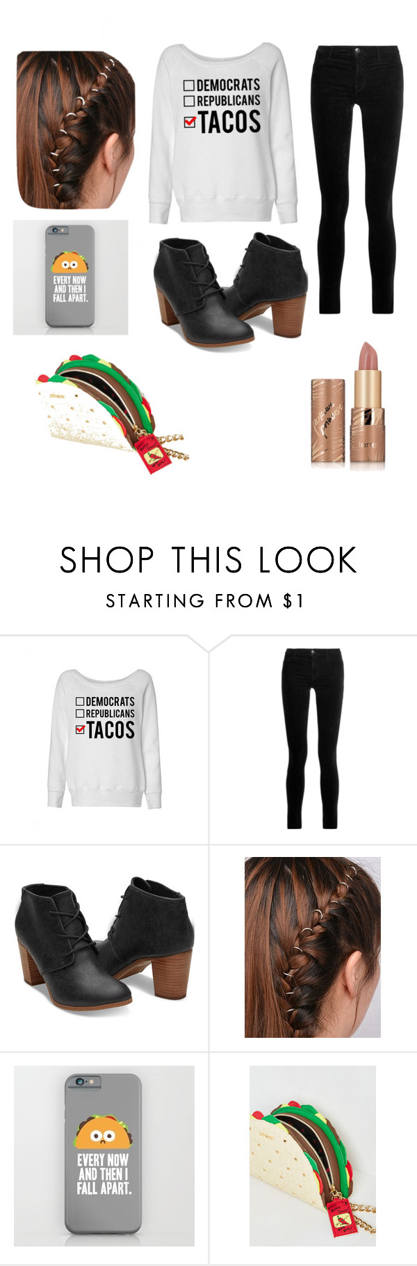 """Taco's"" by hannahl5soselden ❤ liked on Polyvore featuring J Brand and tarte"
