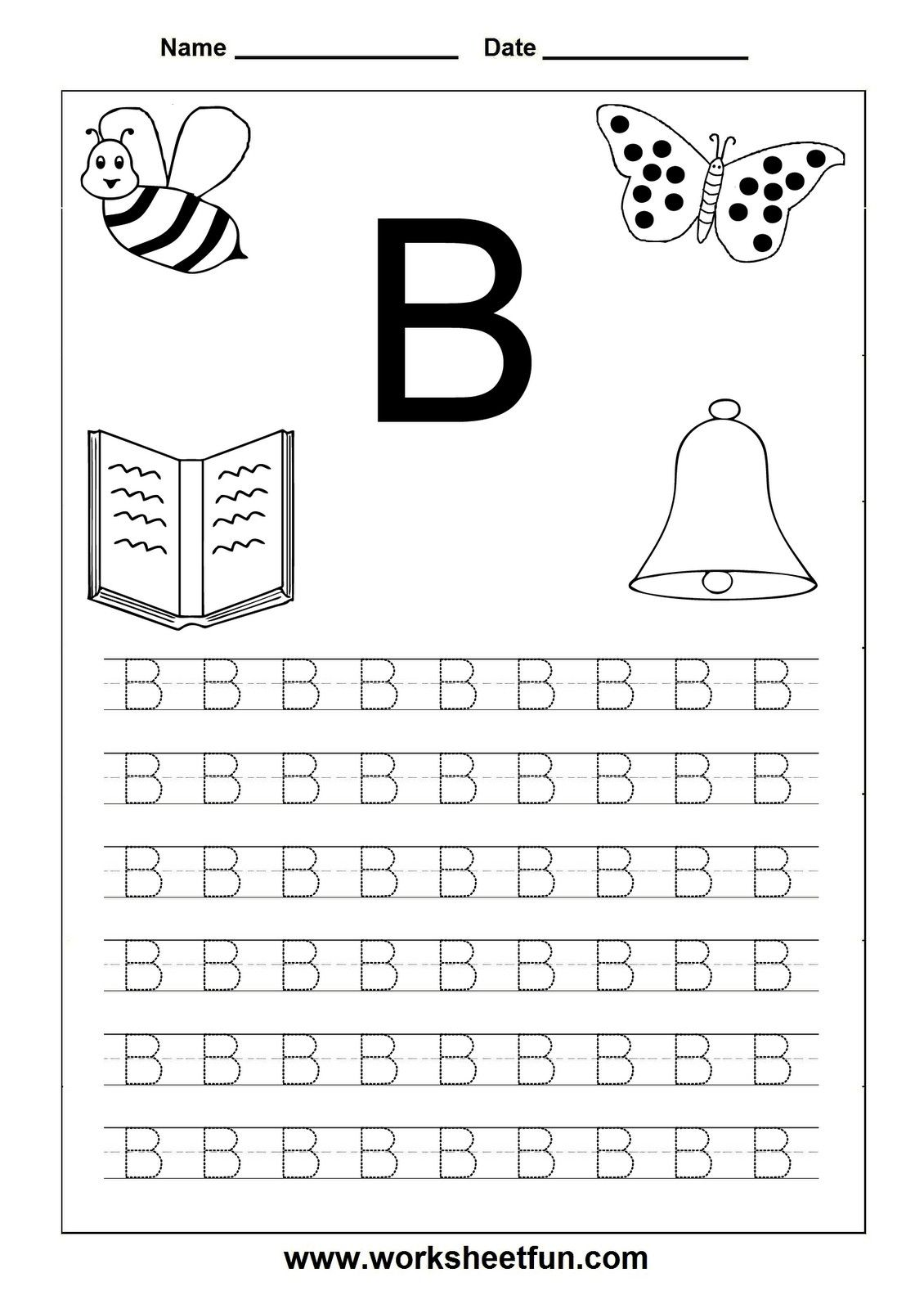 4 Worksheet Free Preschool Kindergarten Worksheets Letters