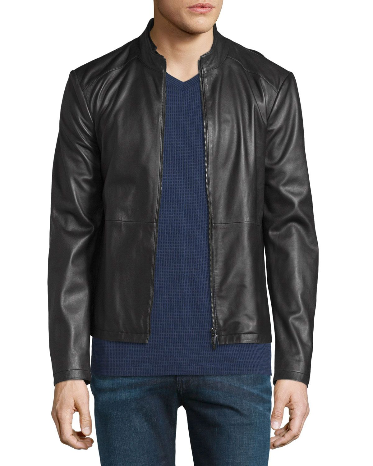 3abed8d1f Cropped Leather Jacket Black | *Outerwear > Coats & Jackets ...