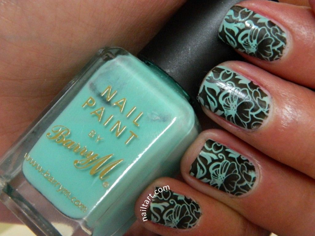 Nail Art Plates with Leaves   MASH Nail Art Polish for Stamping ...