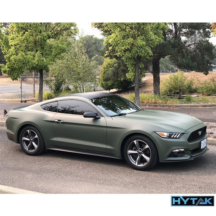 Ford Mustang Wrapped in 3M 1080 Matte Military Green - Vinyl Wrap - 3M & Avery Dennison Vinyl Wrap - Cars & Vehicles
