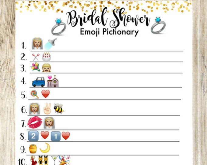 This is a graphic of Emoji Bridal Shower Game Free Printable within bachelorette