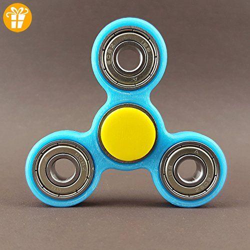 Fidget Spinner Star Hand Toy Finger Pocket Desktoy Hellblau Anti Stress 3D Druck - Fidget spinner (*Partner-Link)