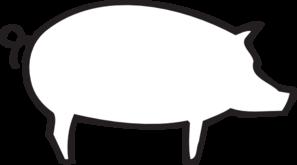 Pig Outline Clip Art Vector Clip Art Online Royalty Free Public Domain Pig Silhouette Pig Outline Clip Art