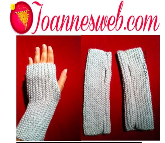 Fingerless Gloves | Fingerless gloves knitted, Easy ...