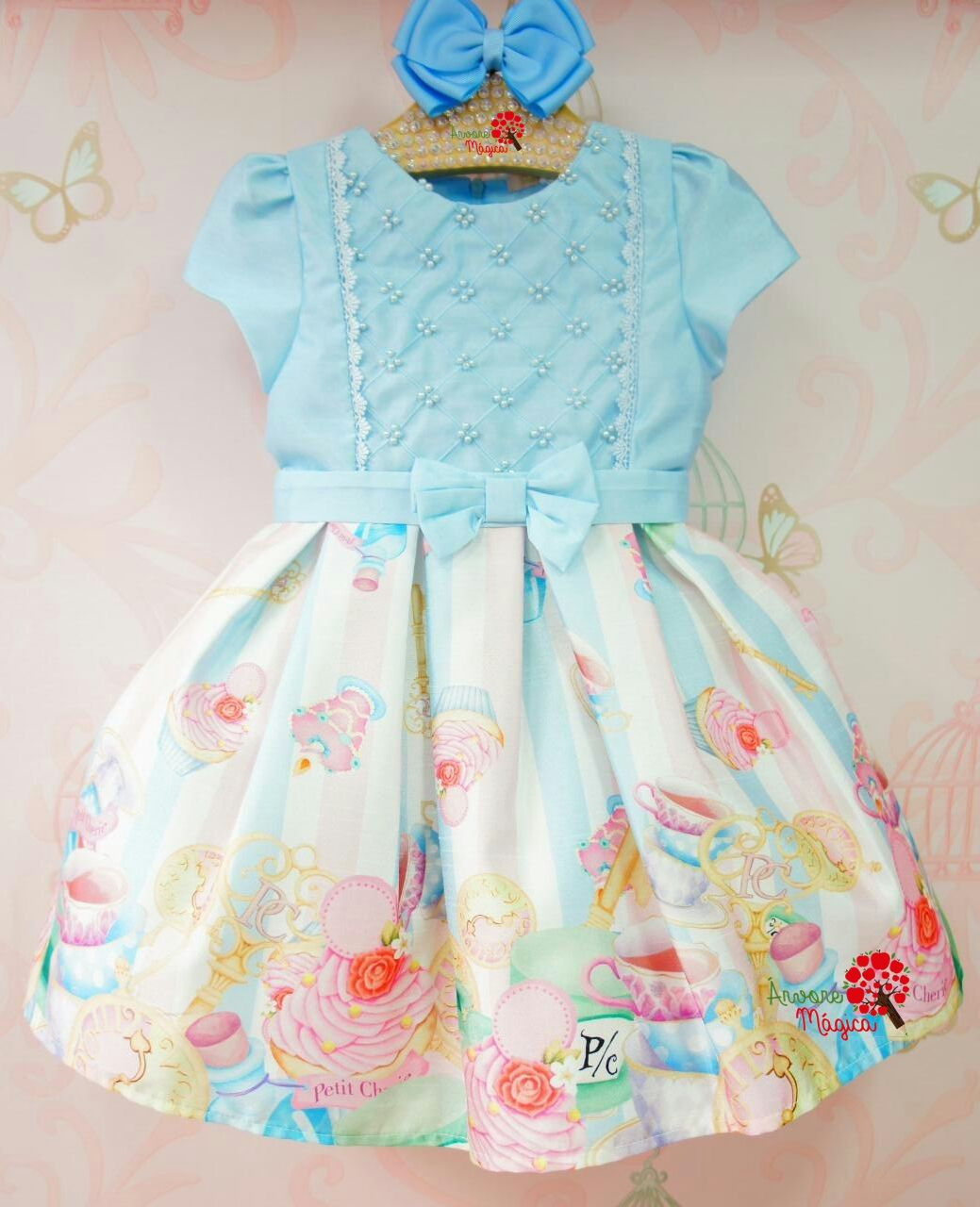 1b93c554c0b9 Vestido de Festa Infantil Confeitaria da Alice Petit Cherie ...