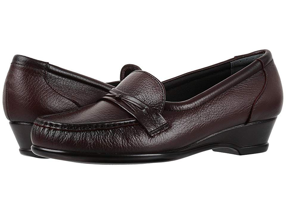 NEW Womens SAS Classic Black Leather Supportive Slip-On Comfortable Support Shoe