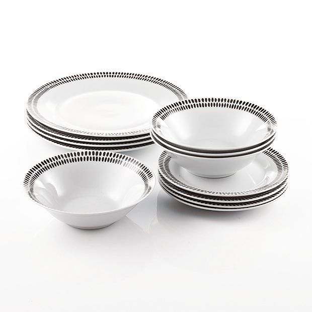 Dash 12 Piece Porcelain Dinner Set