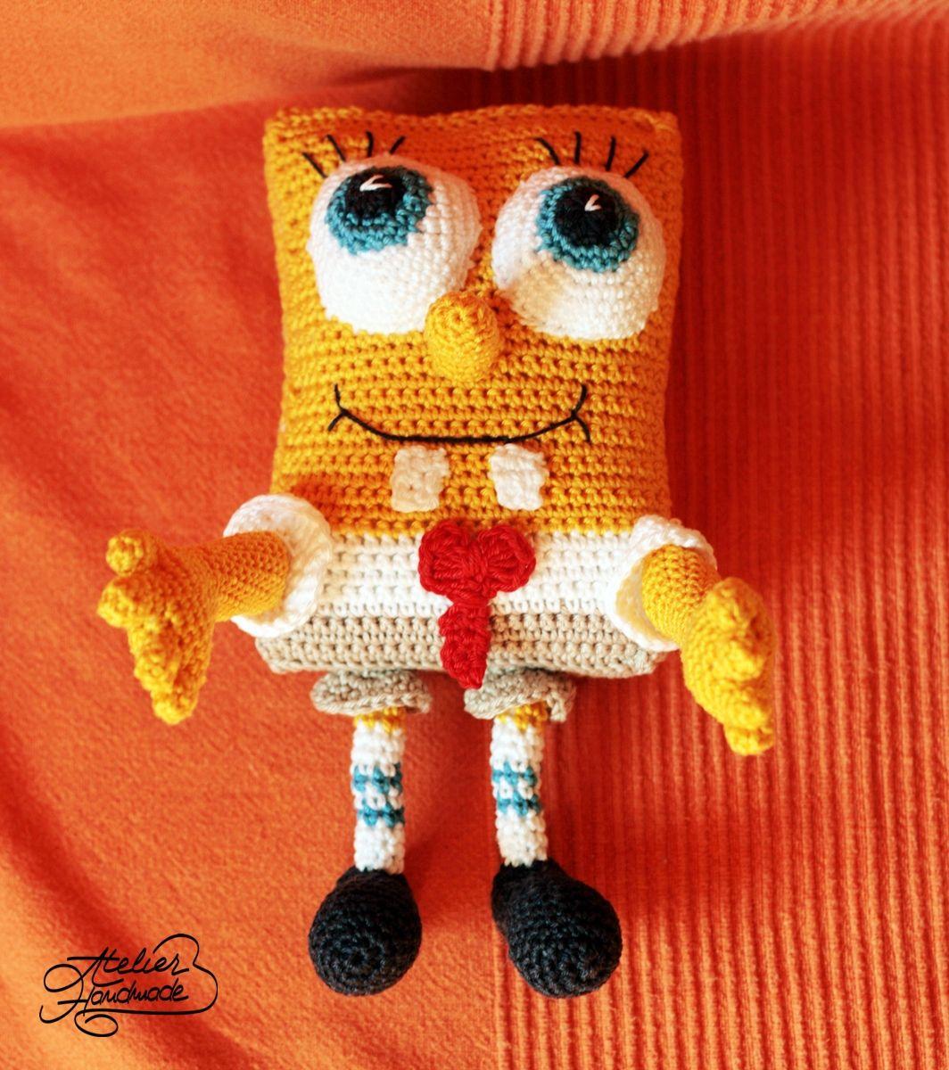 Amigurumi toy of cotton: crochet spongebob squarepants handmade ...