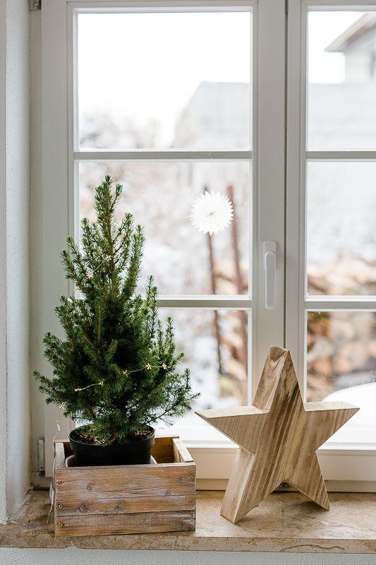 Von Hirschen, Sternen und anderer Weihnachtsdeko oder Friday Flowerday mal anders #weihnachtendekorationdraussengarten
